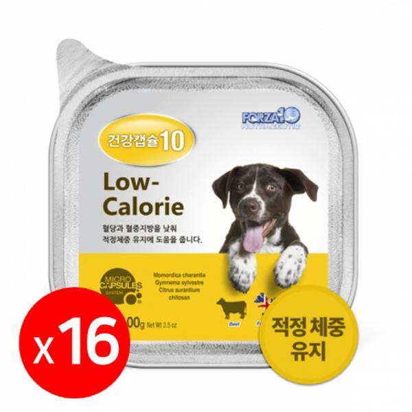 건강캡슐10 저칼로리 강아지주식캔 1box 16개