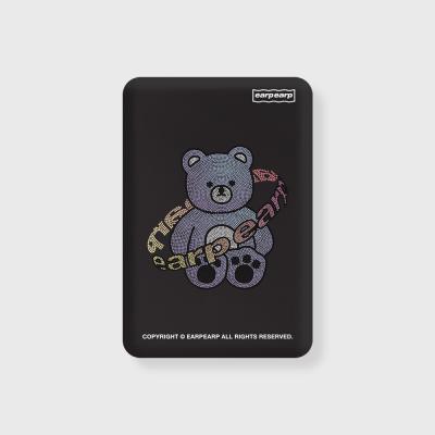 Twinkle gem bear-black(무선충전보조배터리)