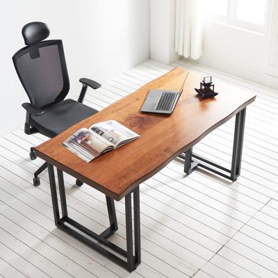코디 1400x800 우드슬랩 책상 원목 테이블