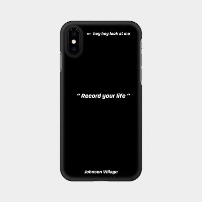 핸드폰 케이스 레코드 유어 라이프 블랙