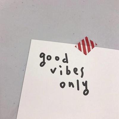 [사심굿즈]good vibes only 엽서