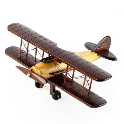 (와인앤쿡)실속형31cm 앤틱 원목 모형 비행기