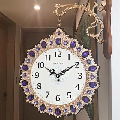 국산 로얄퍼플 양면시계 인테리어벽시계 CH1506913