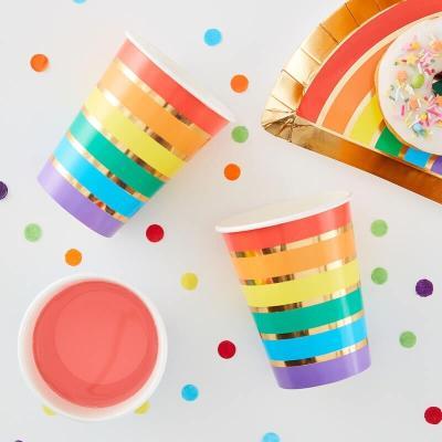 레인보우 무지개 종이컵 Rainbow paper cups GR