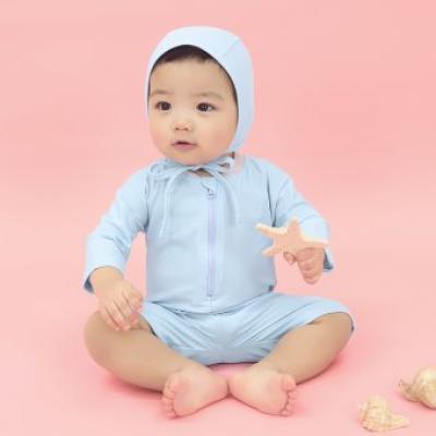 [메르베] 멜로우 스윔슈트 스카이블루 아기 수영복