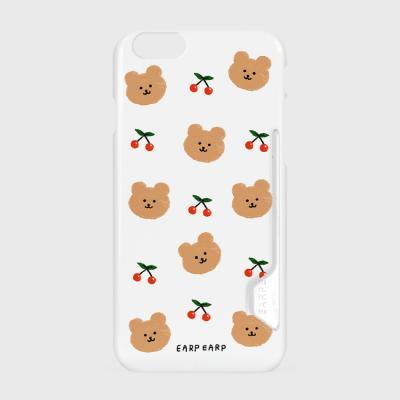 Dot cherry bear-white(카드수납케이스)