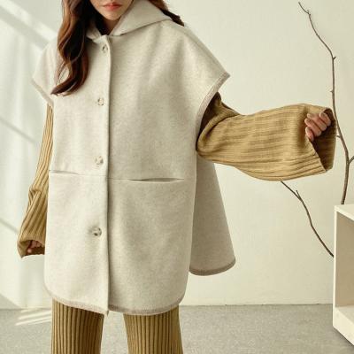 Wool Hooded Gabin Cape