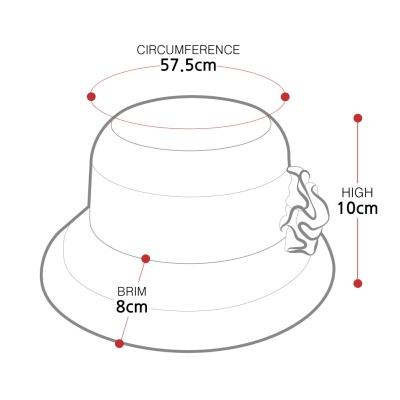 [디꾸보]플라워 패턴 코사지 썬캡 여성모자 AC583