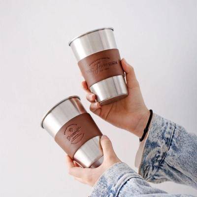 1+1 37도 가죽 포인트레더 스텐 텀블러 컵