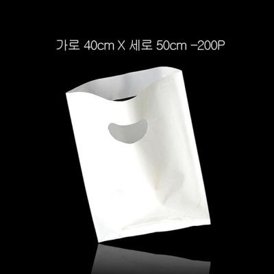 질긴 포장용 무지 비닐백 쇼핑백 40cmX50cm 200P