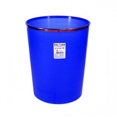 칼라테 오픈형 휴지통 블루 7L 화장실 쓰레기통