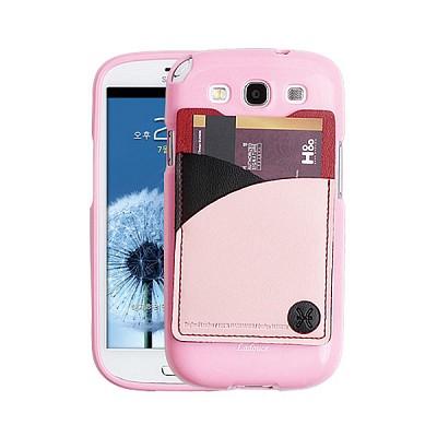 갤럭시S3용 England Leather 3Tones Cardcase 핑크 (3G/LTE 선택)