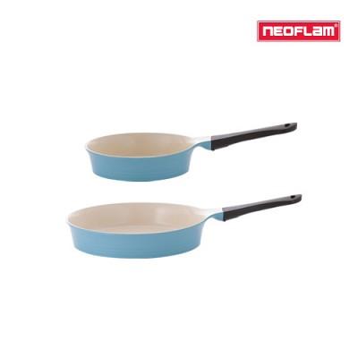 네오플램 에콜론 애니 후라이팬 2종세트 (20cm+28cm) 민트색상