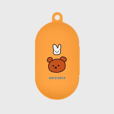 Bear and rabbit-orange(Buds jelly case)