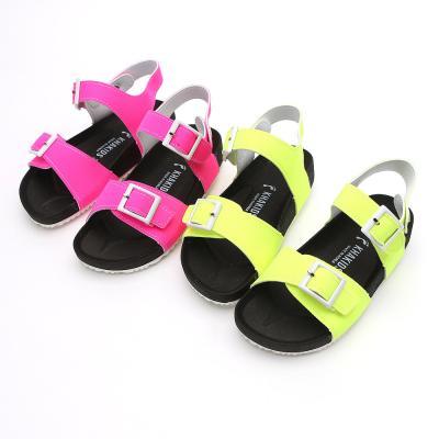 카키즈 형광켄샌들 160-220 유아 아동 키즈 샌달 신발
