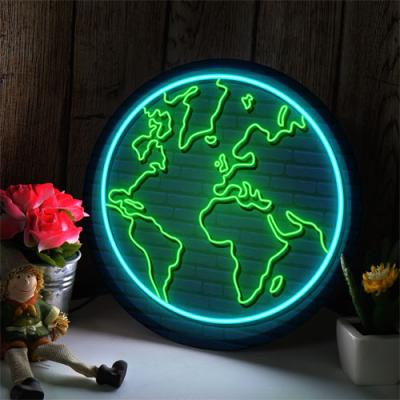 nh922-LED액자25R_네온효과빛나는지구