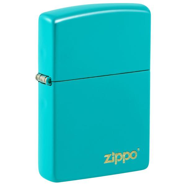 ZIPPO 49454ZL Classic Flat Turquoise Zippo Logo