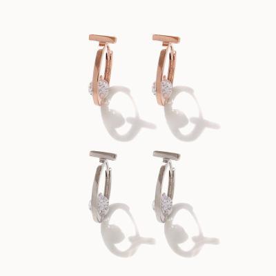 제이로렌 M03585 J라인 큐빅 원터치 귀걸이