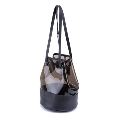 Fennec PVC Bucket Bag - Black