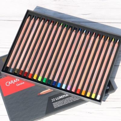 까렌다쉬 유성색연필 루미넌스 20색 6901.720