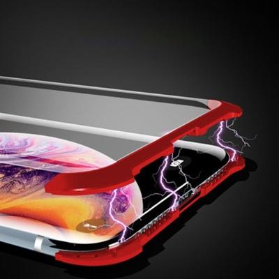 아이폰XR 마그네틱 풀커버 강화유리 하드 폰케이스