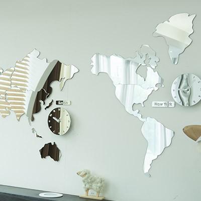 세계지도 거울 (지도만)