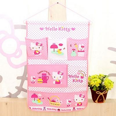 헬로키티 벽걸이수납함 핑크