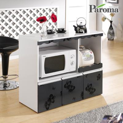 파로마 로이 수납형 아일랜드식탁 렌지대 홈바 SW02