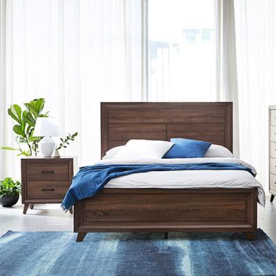 [랜선할인]카덴 퀸침대세트01(침대+협탁) / 매트별도
