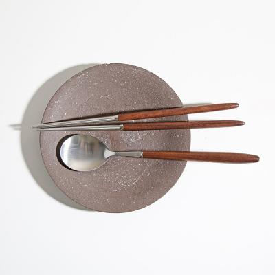 [벨류세라믹]디니스 월넛 우드 수저2인세트(4P)