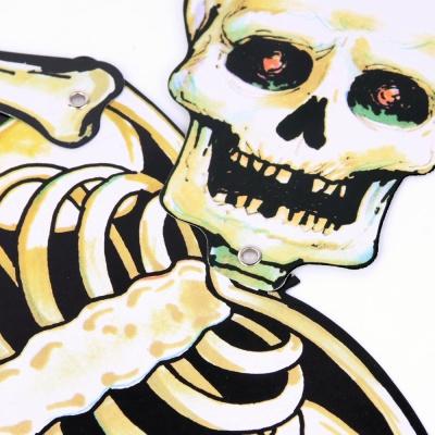 할로윈 해골 종이장식 80cm
