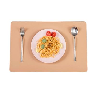 더테이블 가죽 식탁매트 방수 사각 플레이팅