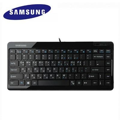 [삼성] 미니 키보드 SKN-6100UB (USB / 멤브레인 / 12개 멀티미디어 키 / 아이솔레이션 키탑 /높이받침대 조절 / 미끄럼방지)