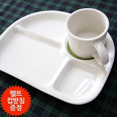 [스크래치]클래식 도자기 식판세트(식판1p+머그컵1p+컵받침사은품)