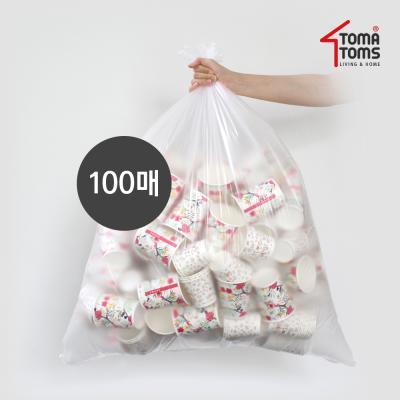 [토마톰스]쓰레기/분리수거함 비닐봉투 80L 100매