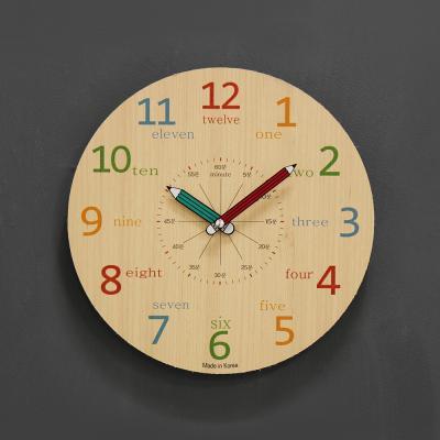 (kthx0431)저소음 교육용 칼라벽시계 260(내츄럴)