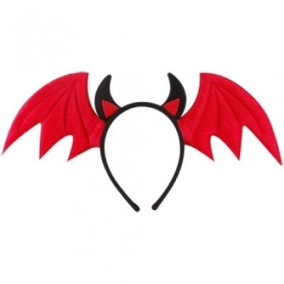 악마날개머리띠 [레드] 할로윈 머리띠 헤어밴드 소품