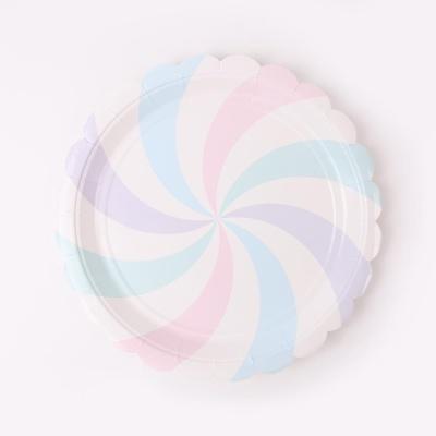 롤리팝 파티접시 18cm - 솜사탕(6입)