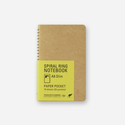 SPIRAL RING NOTEBOOK (A6 Slim) Paper Pocket