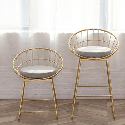 아파트32 홈 골드 철제 의자/ 인테리어의자 S/M
