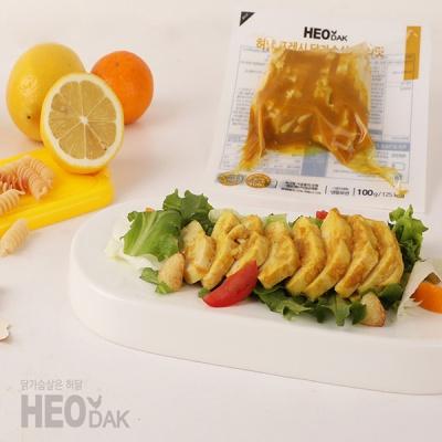 [허닭] 프레시 슬라이스 닭가슴살 커리맛 100g