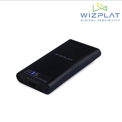 위즈플랫 지문인식 포터블 SSD S2Bio / 1TB