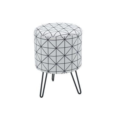 히쿠 디자인 패브릭 스툴 의자