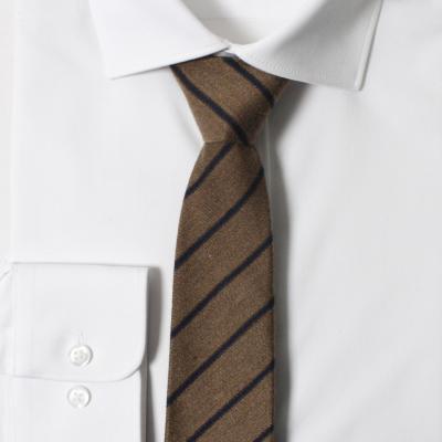 남자 자동 면접 넥타이 (사선 딥베이지)