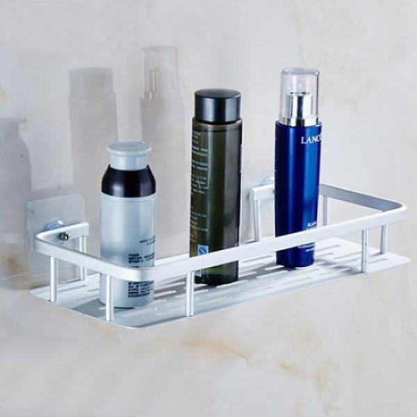 (와인앤쿡)알루미늄 1단 욕실 사각선반 1개