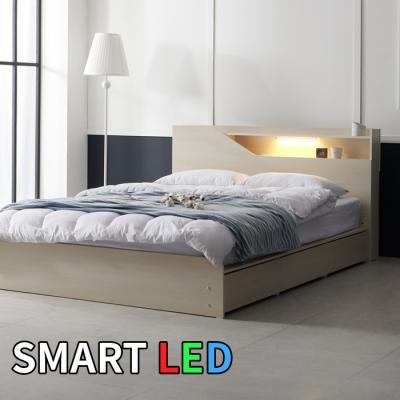 스마트 LED 서랍 침대 퀸 KC175Q