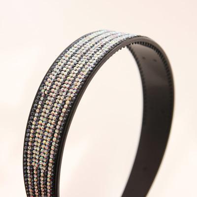 제이로렌 03SH0137 셀룰로이드 큐빅 블랙 헤어밴드