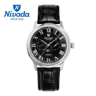 [NIVADA] 니바다 남성용 멀티펑션 가죽 시계 1007