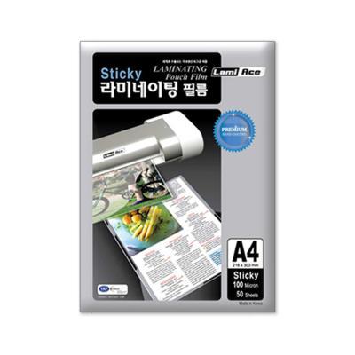 라미에이스 STICKY 코팅필름 100MIC A4(50매)