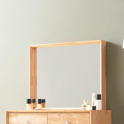 큐브G 사각 화장대거울 원목 벽거울